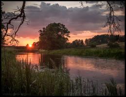 Fyris river in july II by Vitskog