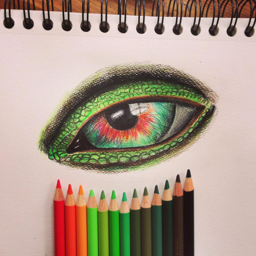 iguana eye painting - photo #31
