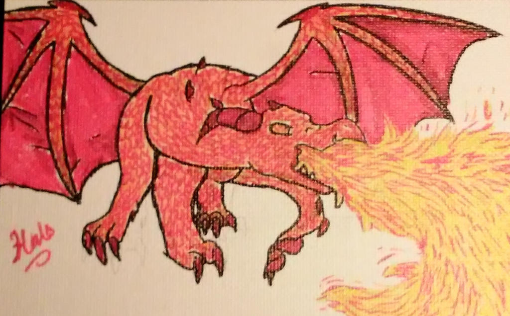 Dragon marker (sketch? i don't even know) by Halotherandomcat