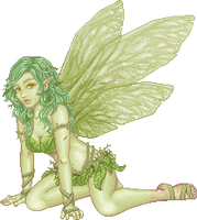 A Leaf Fairy of the Enchanted by lithriel