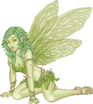 A Leaf Fairy of the Enchanted