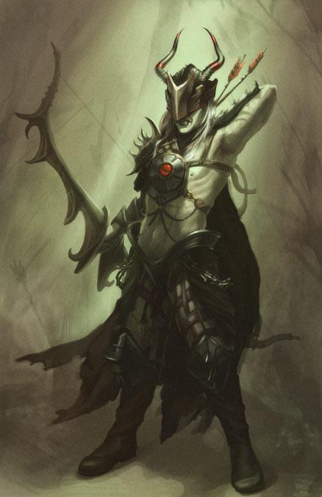 Dark Elf Concept Art by lithriel