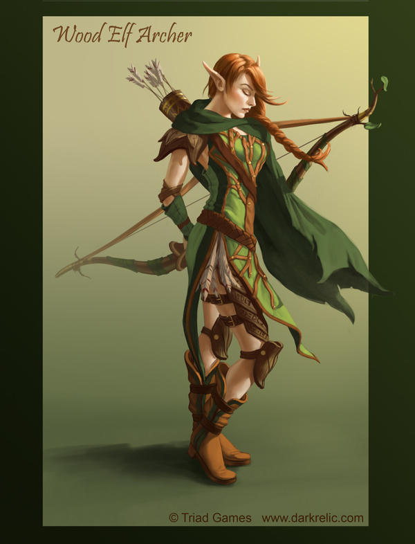 Dark Relic Female Avallis-Vir Archer Concept by lithriel