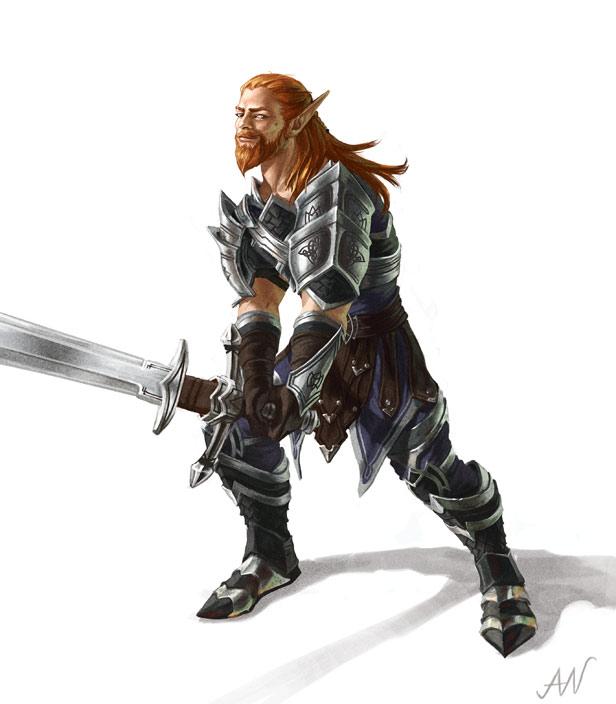 Man Elf Hybrid - Aonghus by lithriel