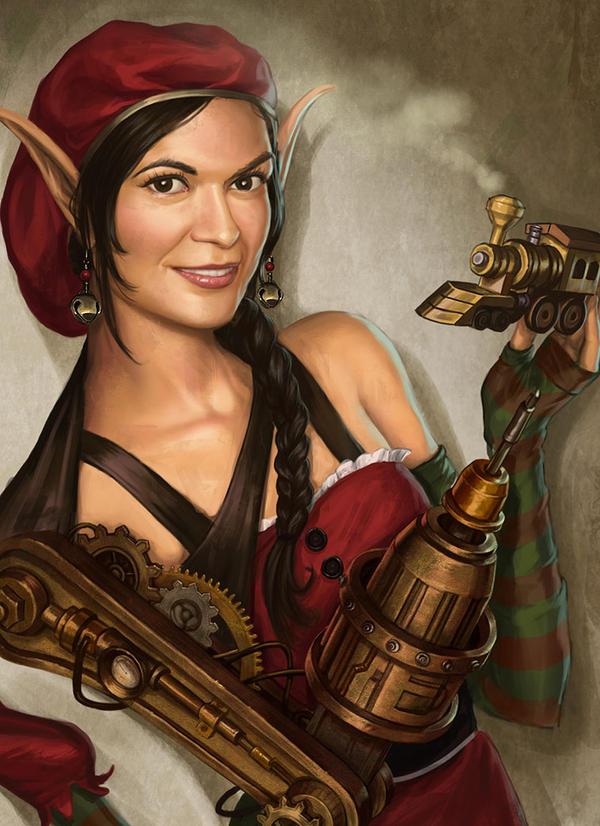Steampunk Elf by lithriel