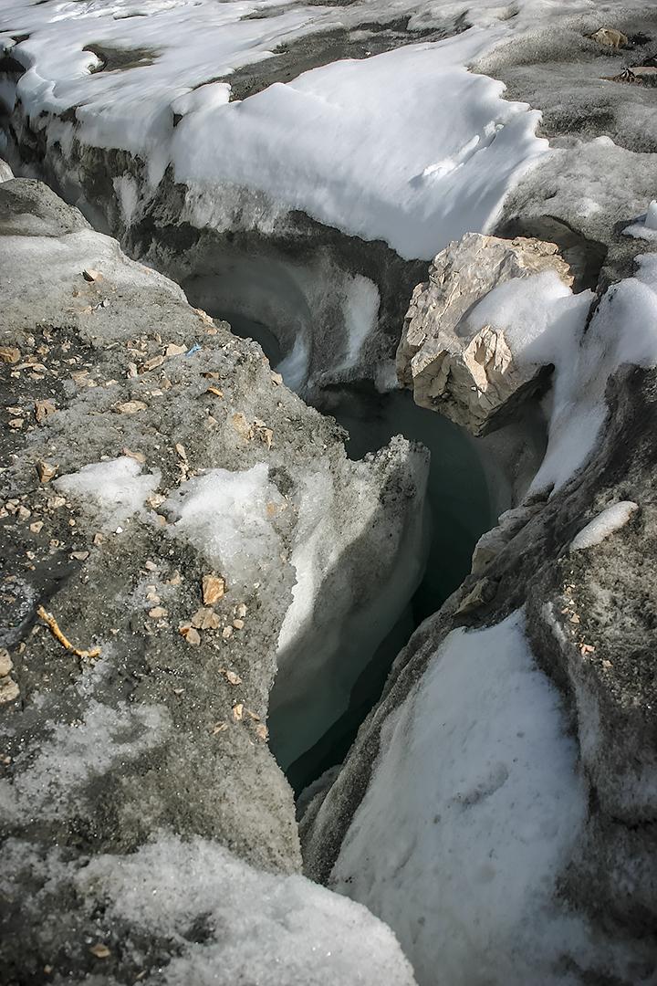 Glacial ice on the Zugspitz, Germany by jameslawton