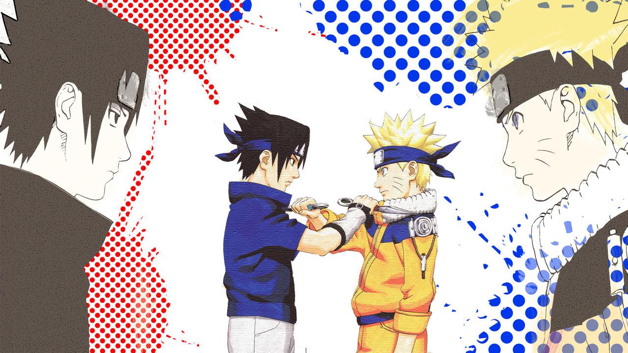 Must see Wallpaper Naruto Face - face_off__naruto_and_sasuke__young__by_xdryuk-d5ani84  HD_505585.jpg