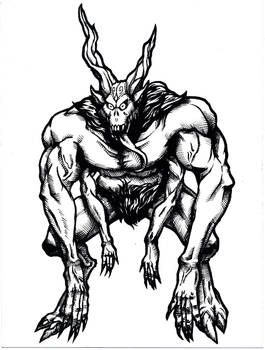 Satanic Creature (Inktober??)
