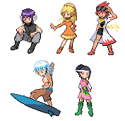 Pokemon FF: Gym Leaders WIP by Keh-ven