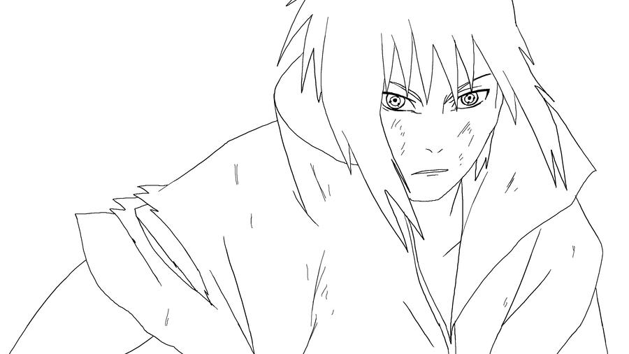 Sasuke Lineart : Sasuke lineart by keh ven on deviantart
