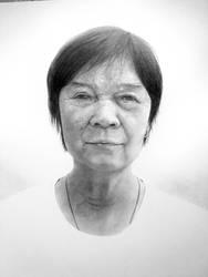 Grandma Portrait by Keh-ven