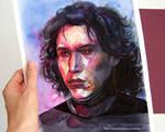 Kylo Ren watercolor portrait