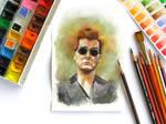 Watercolor Crowley
