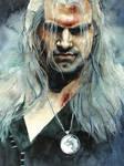 Geralt of Rivia watercolor