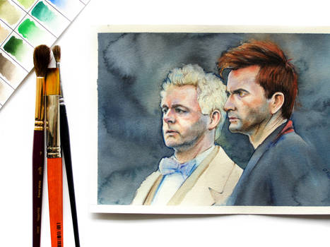Good Omens Aziraphale and Crowley