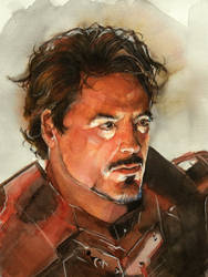 Ironman watercolor