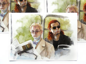Good Omens Aziraphale and Crowley art prints