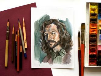 Sirius Black watercolor painting