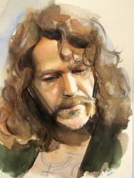 Sirius Black watercolor sketh