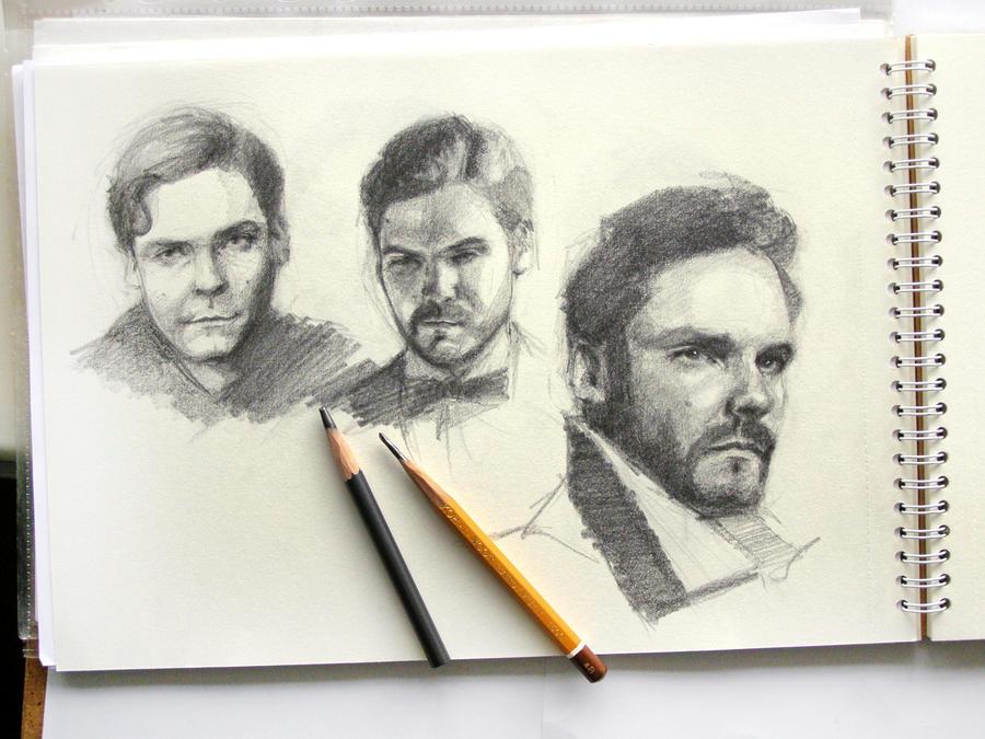 Daniel Bruhl sketches