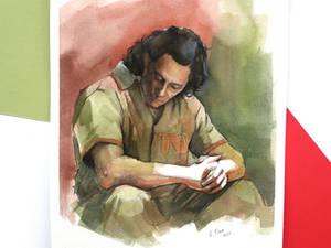 A4 Loki Marvel painting