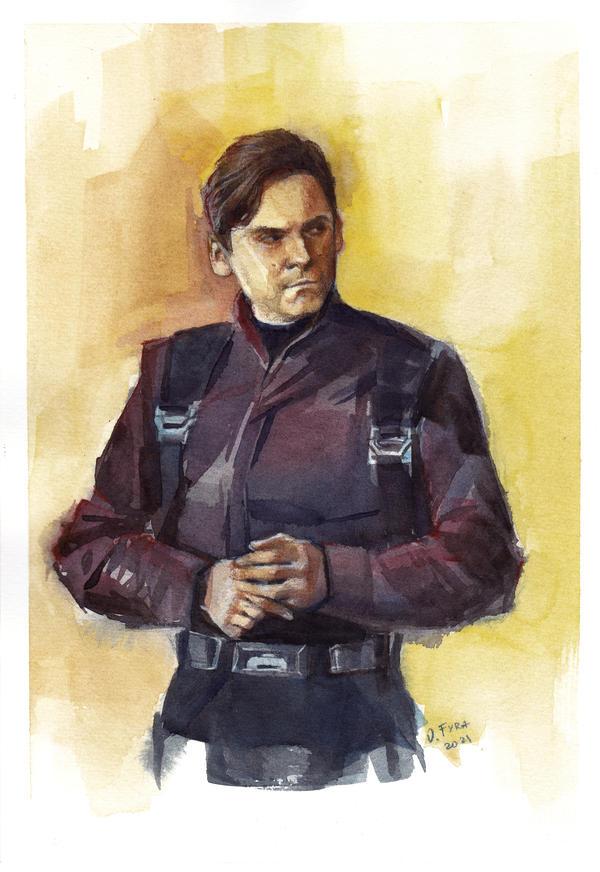 Helmut Zemo watercolor