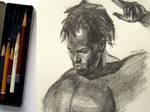 Male portrait drawing