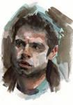 Bucky Barnes portrait Falcon and Winter Soldier