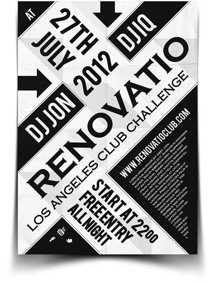 Renovatio  Typography Flyer  Poster By Bluemonkeylab On Deviantart