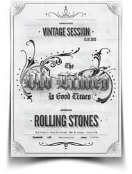 Vintage Typography Flyer / Poster by BlueMonkeyLab