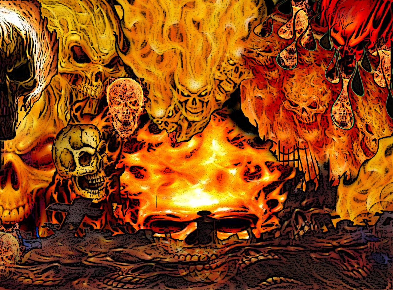 fire demon skulls by fiendy on deviantart