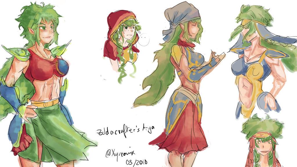 Zeldacrafter's Arya by Xyncomix