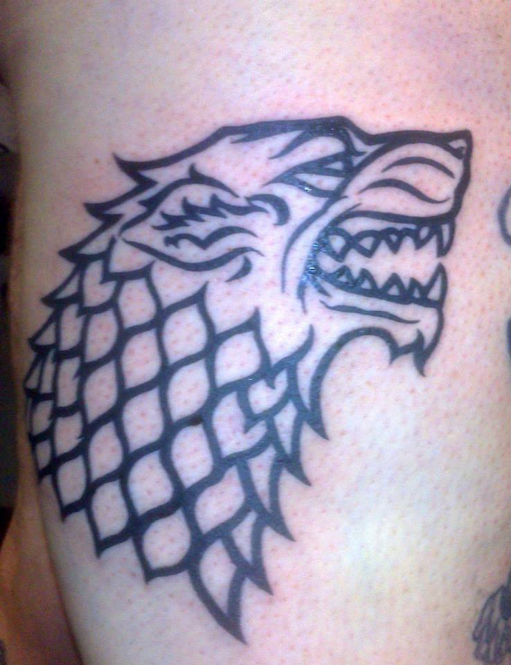 Dire Wolf Tattoo (close up) by HowComeHesDead