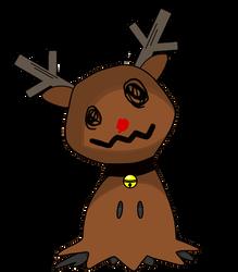 Rudolph Mimikyu by LittleMimikyu
