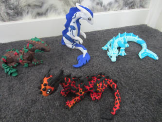 four elementals Group picture by Dragonsculpt