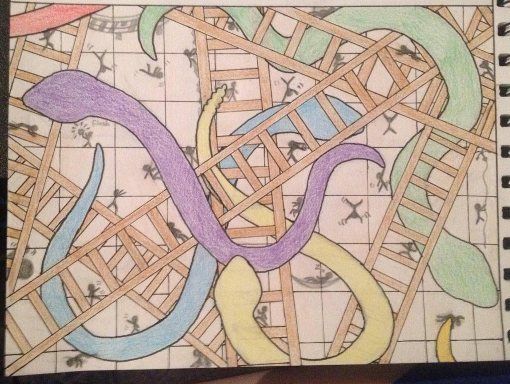 Interactive snakes and ladders updated by Majenta4