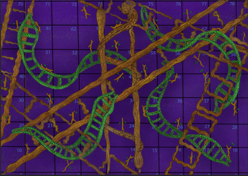 Snakes And Ladders -digital version by Majenta4