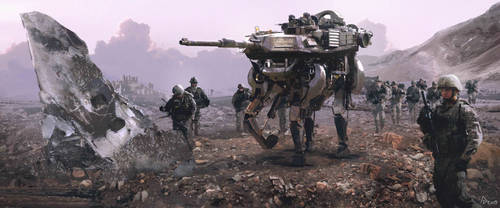 Walking Tank2 by AndrewDoris