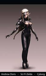 Metal Zelda Princess Cyborg v03 by AndrewDoris