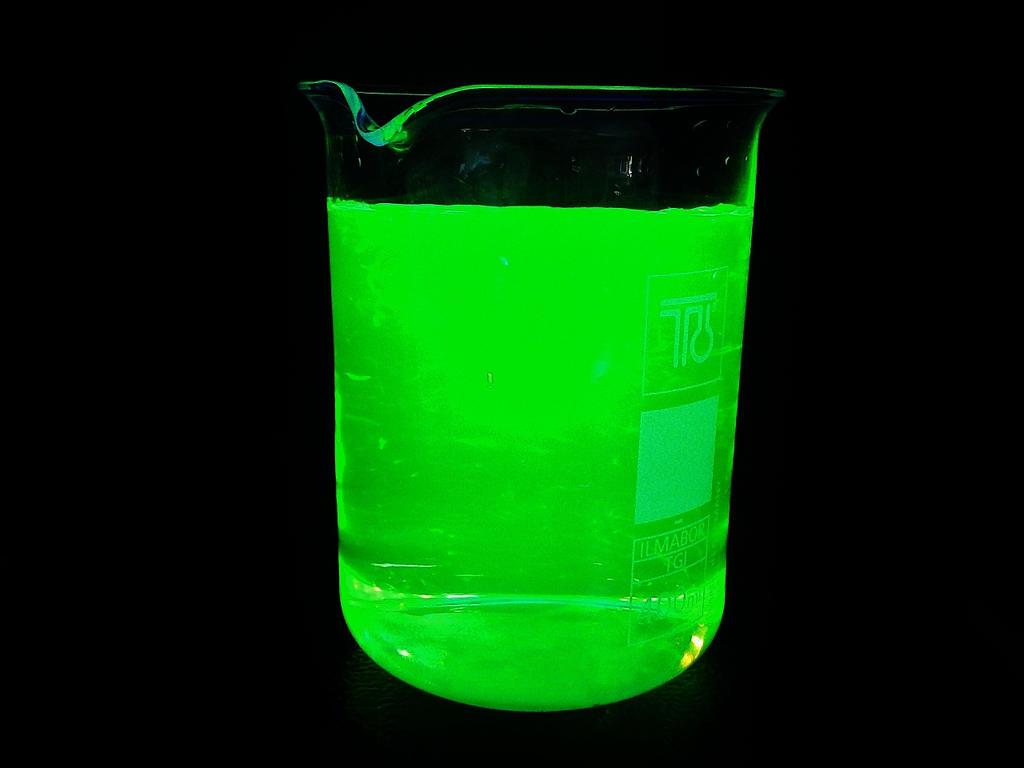 Fluorescein dissolved in water