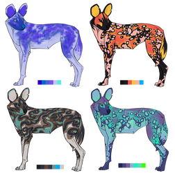 African Wild Dog Adopts [3/4 OPEN] by pinemartenartin