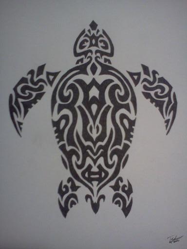 Tribal Sea Turtle by TWanderer