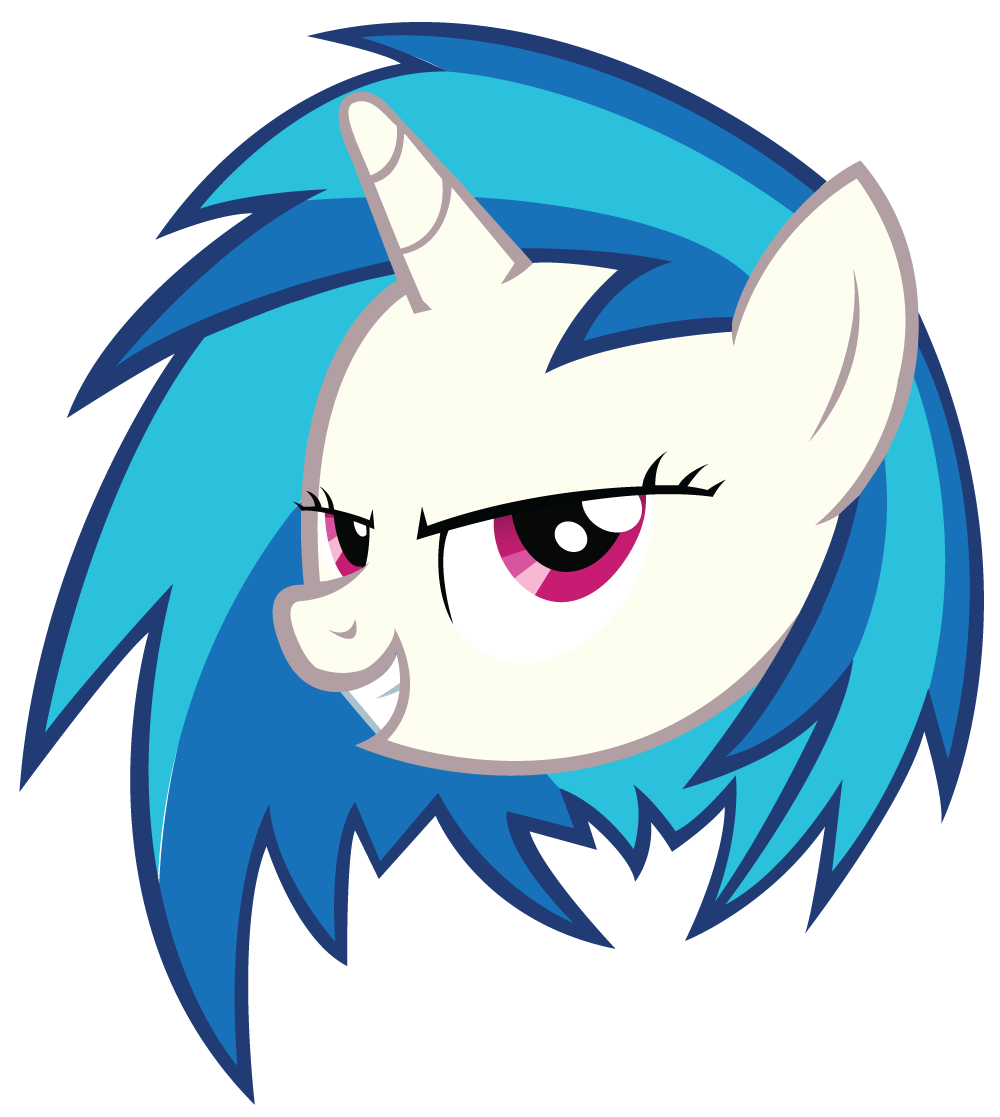 Vinyl Scratch Head Without Glasses By Tehawesomeface On