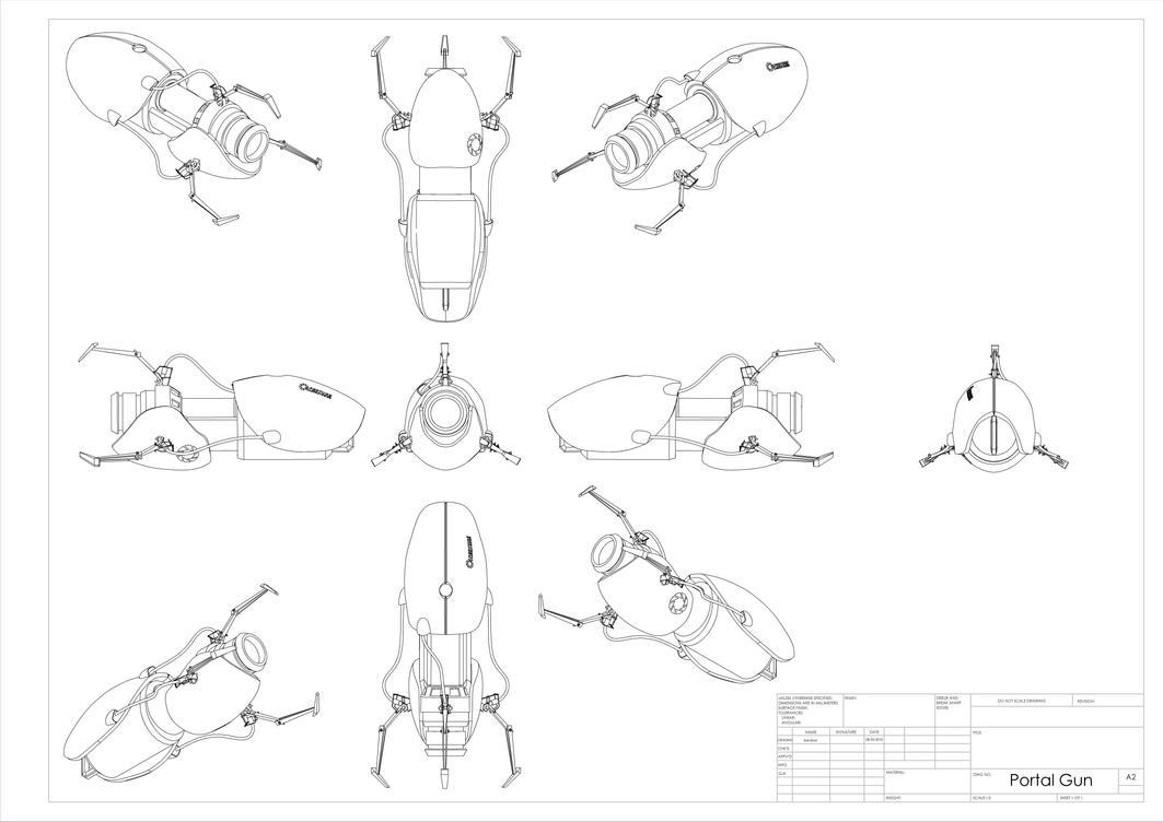 Portal Gun Drawing Portal_gun_drawing_by_bevbor