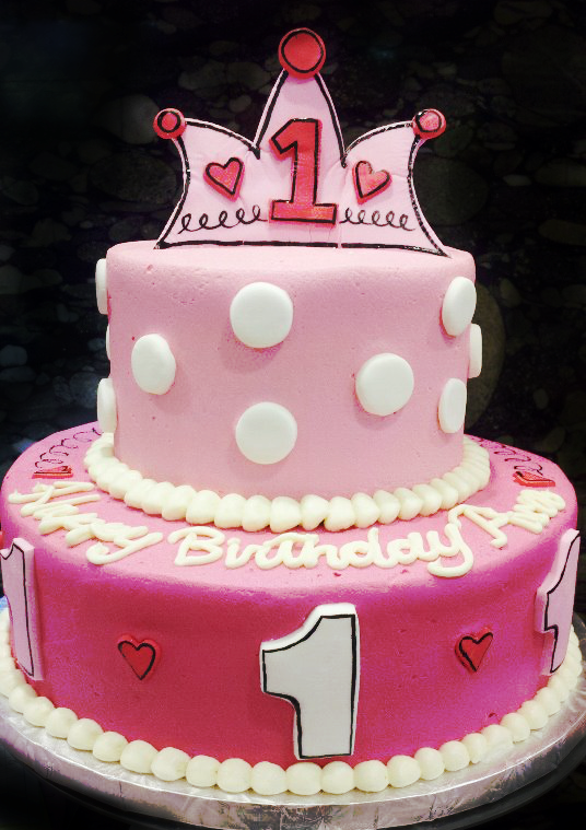 Princess First Birthday Cake by aspy on DeviantArt