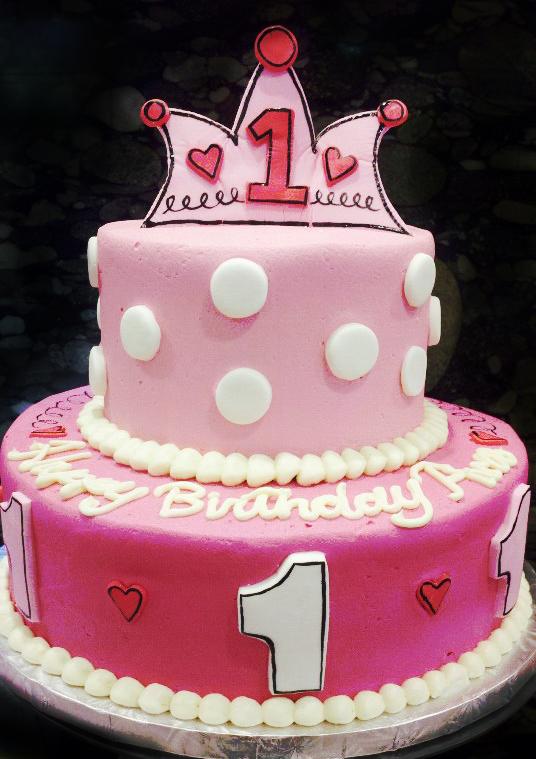 Princess First Birthday Cake by aspy on DeviantArt