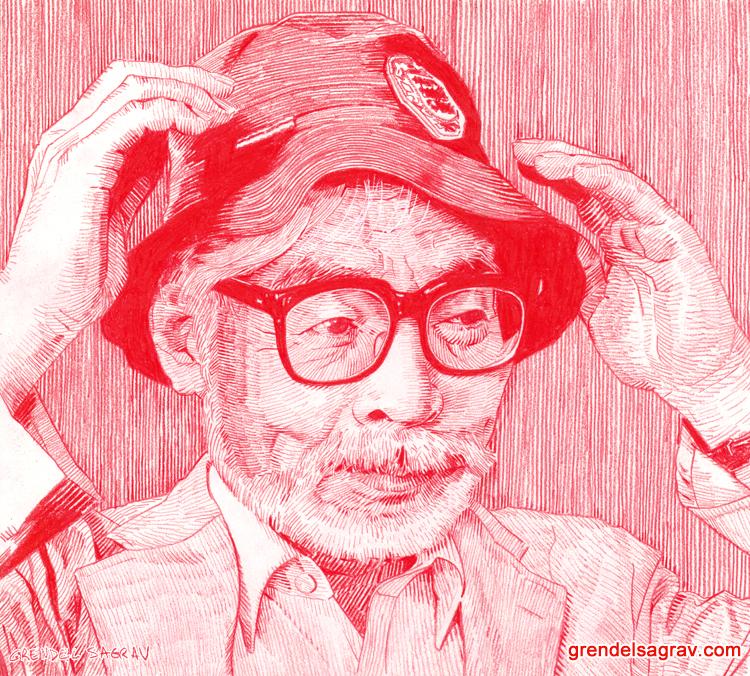Hayao Miyazaki by GrendelSagrav