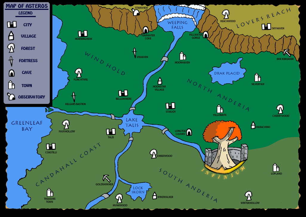 Map of Asteros by MisterMushy on DeviantArt