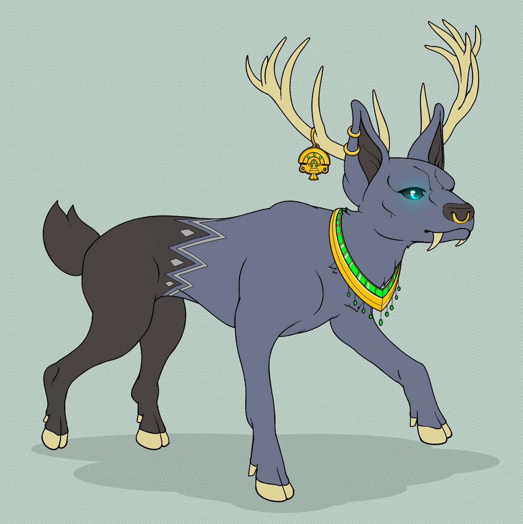 Feral DeerDog By SabreMushy