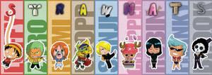 Chibi Strawhats bookmarks
